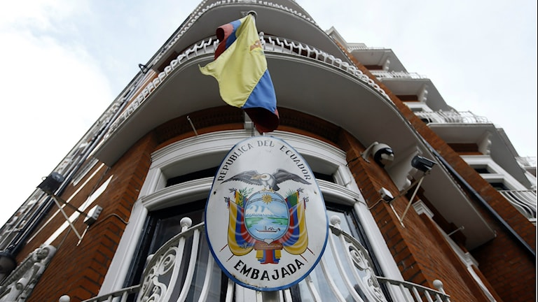 The Ecuadorean embassy in London, where Julian Assange has stayed for the past three years. Photo: Kirsty Wigglesworth / AP / TT.