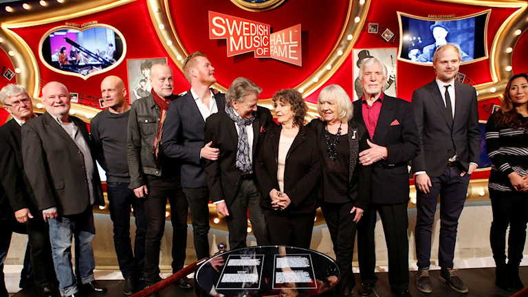 Some of Swedish Music Hall of Fame's inductees 2016