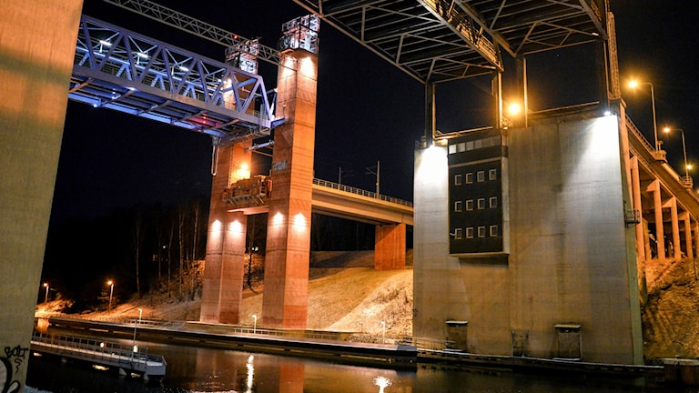The drawbridge over the Södertälje canal.