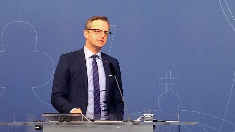 Minister for Enterprise, Mikael Damberg. Photo: Ulla Engberg / Radio Sweden