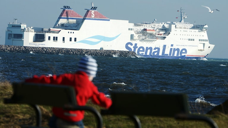 A Stena Line ferry off the coast of southern Sweden.