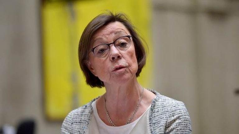 Annika Söder, agaasimmaha guud guud/isku-duwaha wasaaradda arrimmaha dibadda Sweden. Sawirle:  Henrik Montgomery / TT
