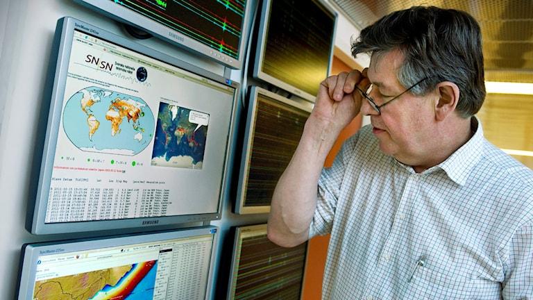 Uppsala University seismologist Reynir Bödvarsson. Photo: Claudio Bresciani / TT.