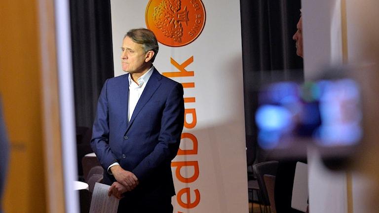 Председатель правления Swedbank Андерс Сундстрём/Anders Sundström покинет свой пост. Фото: Marcus Ericsson