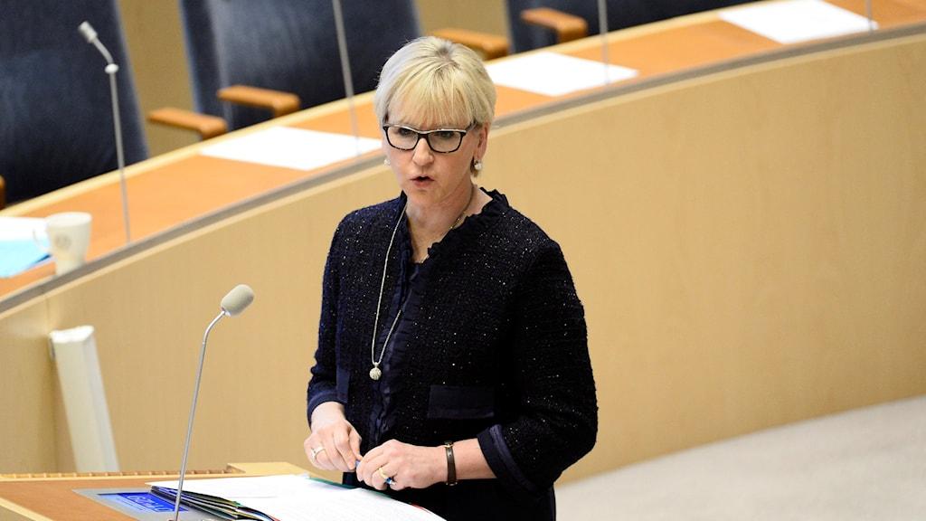 Foreign Minister Margot Wallström.