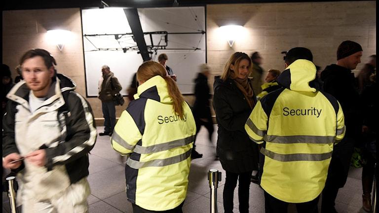 Border controls at Kastrup Airport in Copenhagen
