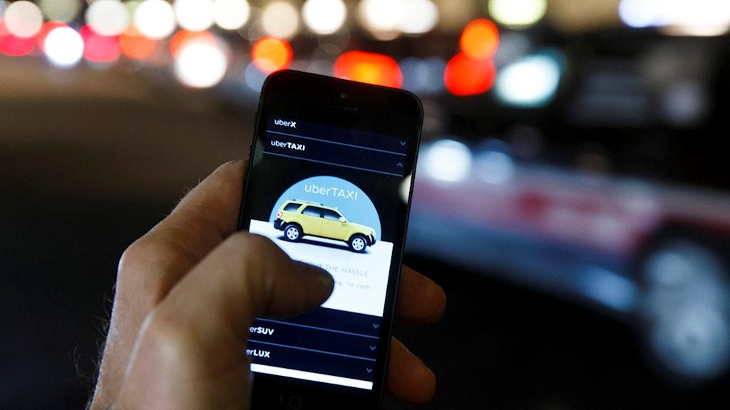 Uber. Photo: Heiko Junge/NTB scanpix/TT
