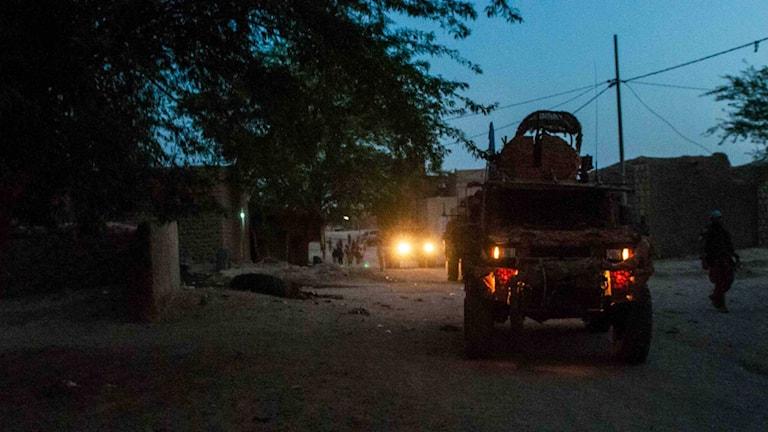 Swedish troops on patrol in Mali.