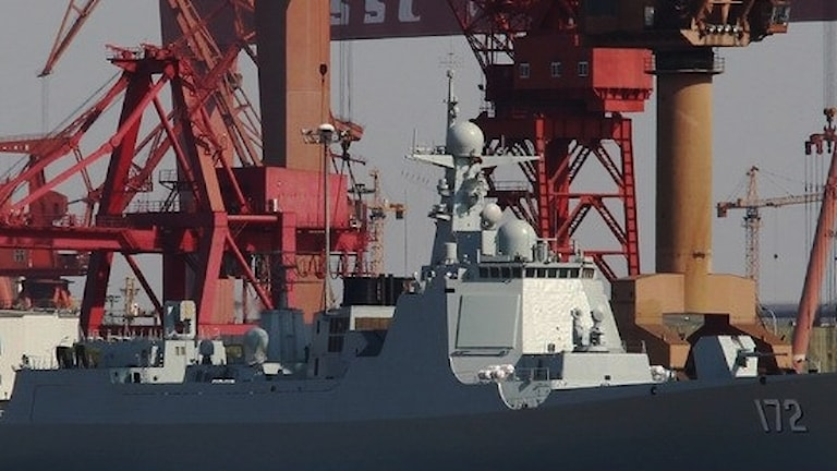 China has sent one of its 052D destroyers