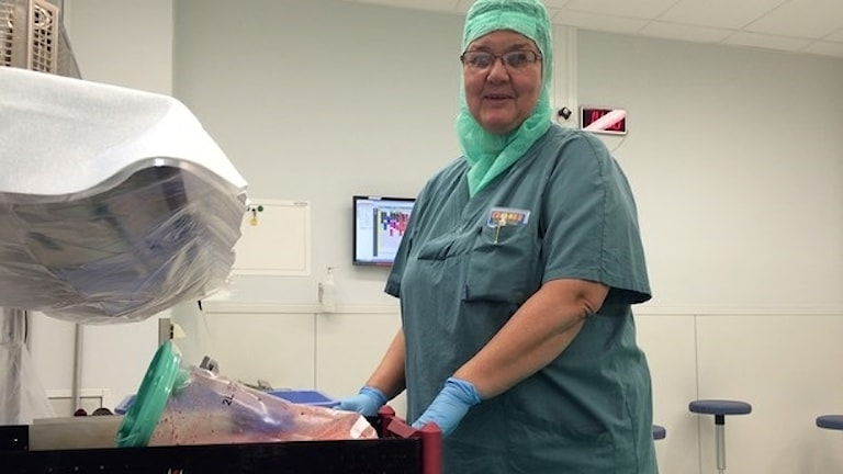 """One of the nurses in the """"six-hour workday"""" program, Gabriele Tikman."""