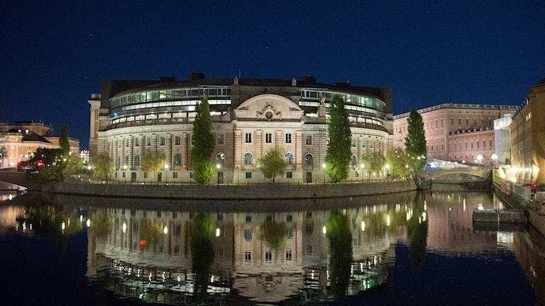 The Swedish parliament building