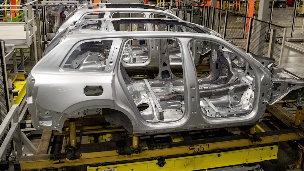 The manufacturing line at Volvo Cars.