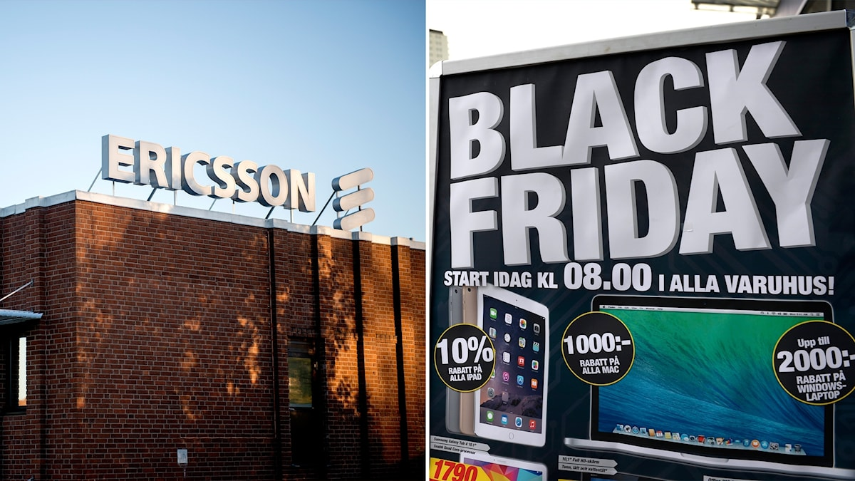 Ericsson and a Black Friday advert in Sweden.