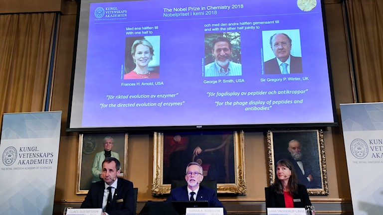 This year's Nobel prize in chemistry was announced Wednesday.