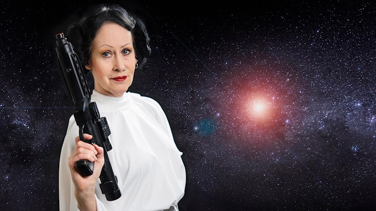 "Organist Ulla Olsson as Carrie Fisher's classic character ""Princess Leia"" from the Star Wars films."