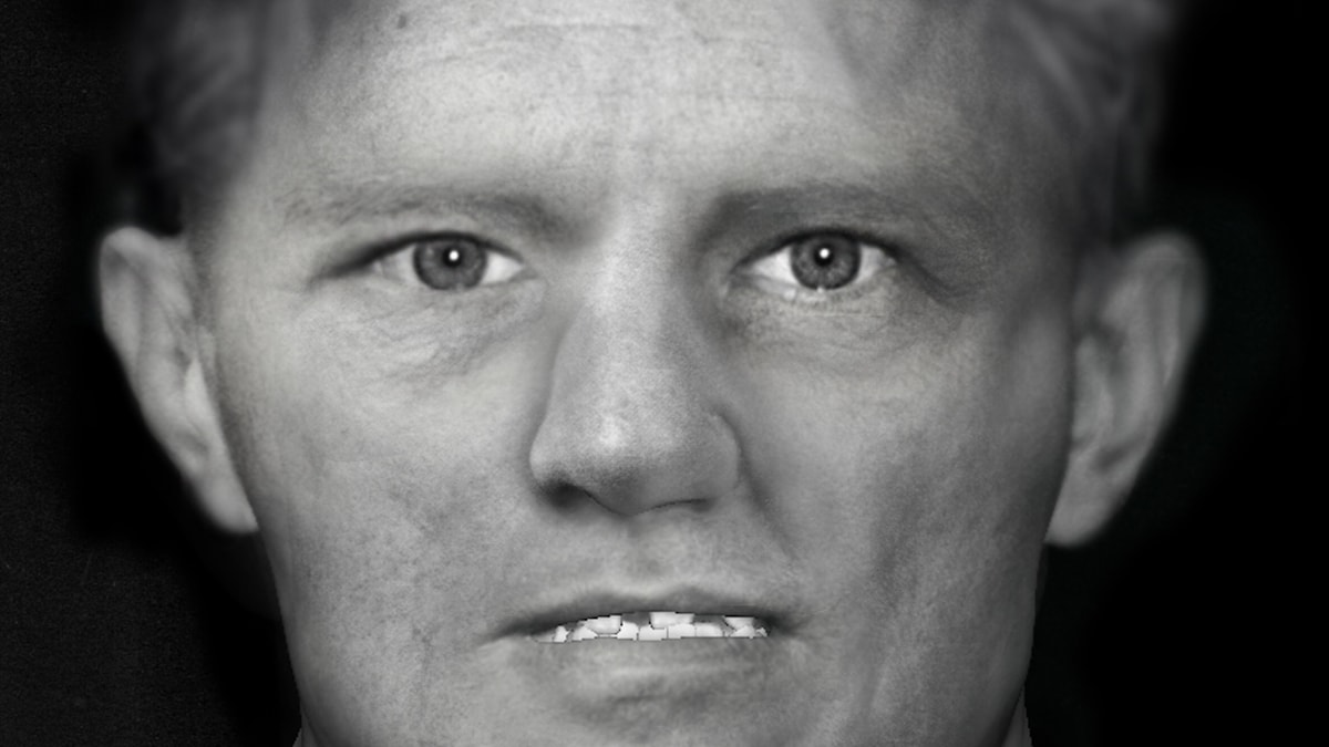 The new reconstructed image of the victim. Police hope it will help identify the man. Photo: Swedish Police / TT.