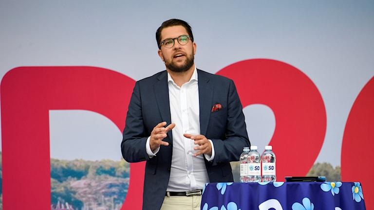 Jimmie Åkesson in Almedalen.