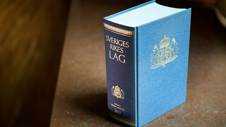 Blue Swedish law book