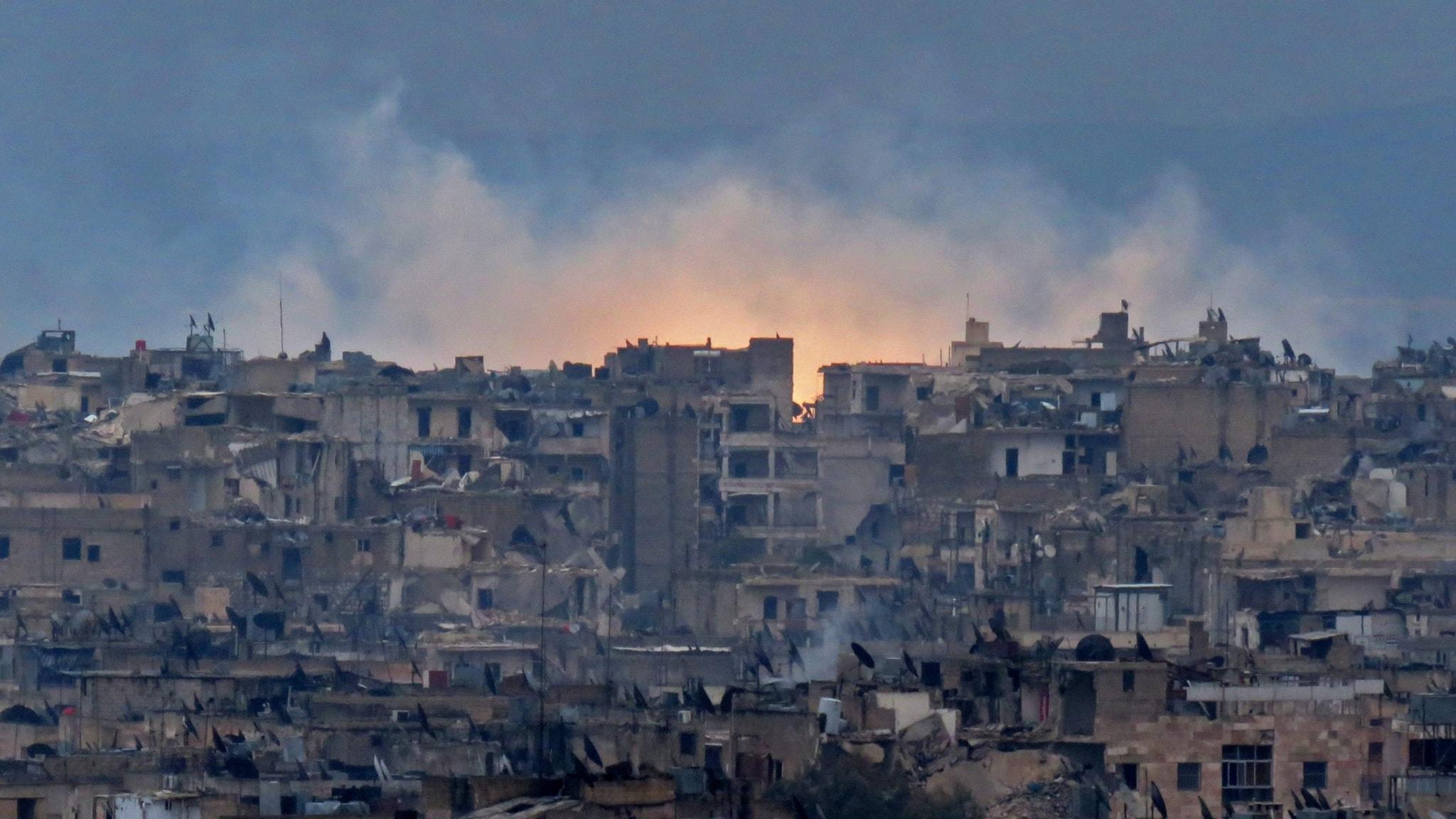 Aleppo's southeastern al-Zabdiya neighbourhood.