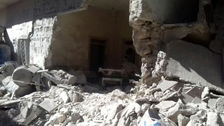 Devastation in Aleppo, Syria.