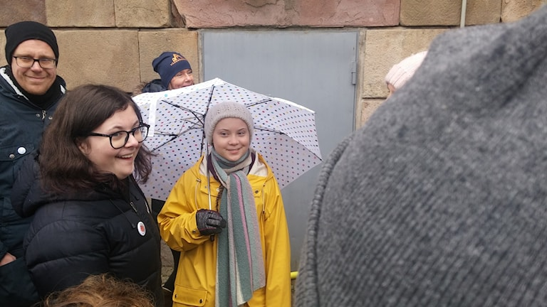 The teenager who started it all. Greta Thunberg outside the Swedish  parliament on Friday the 7482425a1ea47