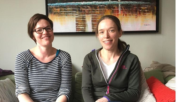 Karen Haandrikman och Elisabeth Schreuder från Gustavsberg.
