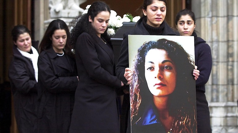 Funeral for Fadime Sahindal in Uppsala