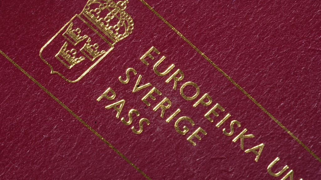 A Swedish passport.