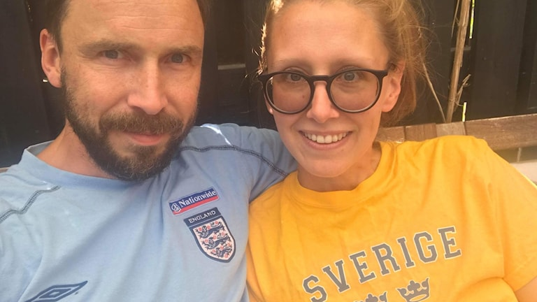 Dave and Cecilia Sitwell who will be hosting a 40th birthday party at home when Sweden play England in the World Cup