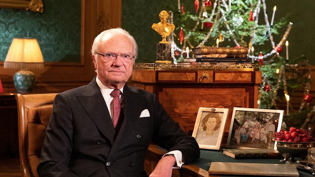 King Carl XVI Gustaf during his Christmas speech