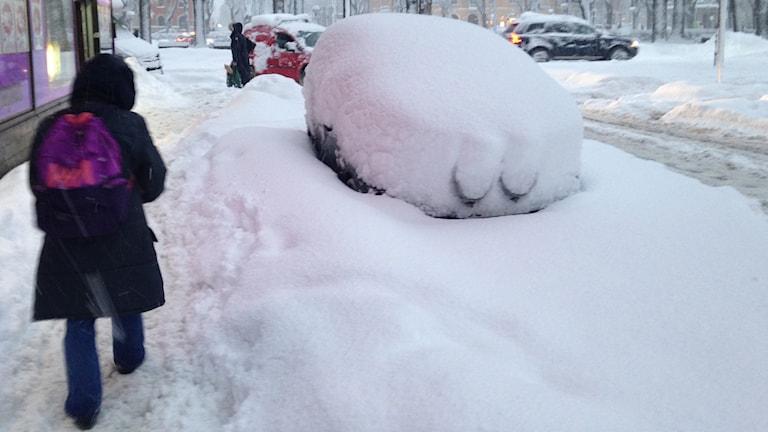Snow in Stockholm