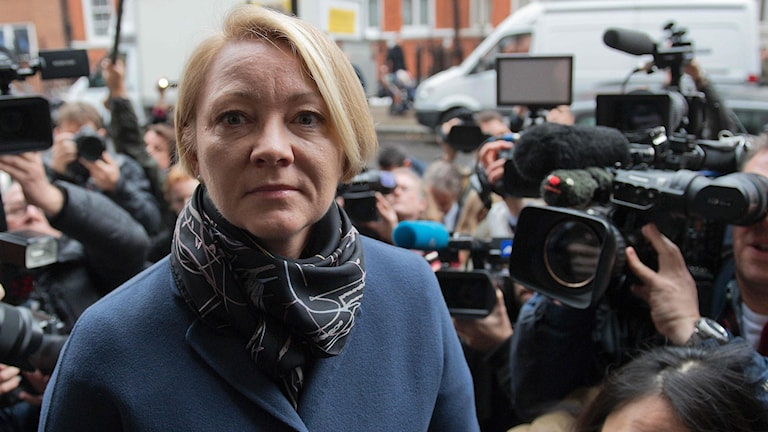 Swedish prosecutor Ingrid Isgren arrives to attend an interview with WikiLeaks founder Julian Assange at the Ecuadorian Embassy in London on November 14, 2016 over a rape allegation against him.