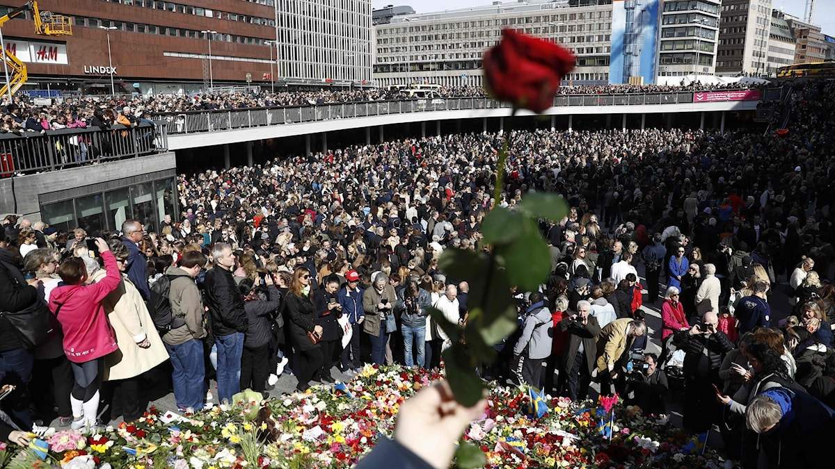 Massive amounts of people gathered for the Lovefest in Stockholm.