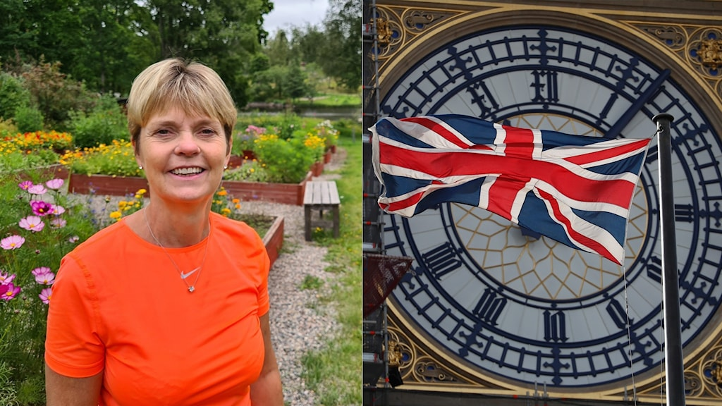 Kate Persson, and a picture of the British flag in front of Big Ben.