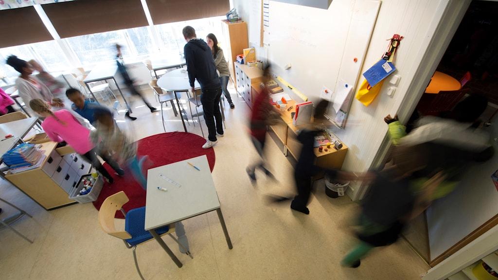 A school room in Sweden.