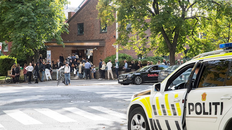 Voting in Oslo for the Swedish election