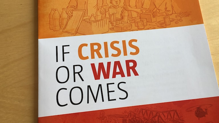 The cover of the English version of MSB's brochure If Crisis or War Comes.