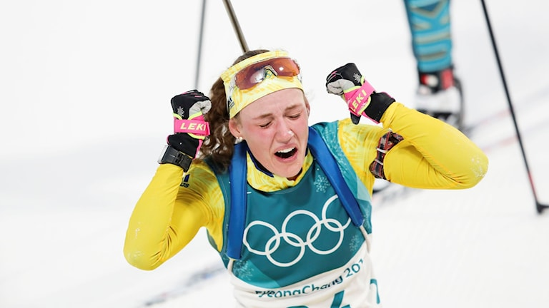 Tears of joy for Hanna Öberg.