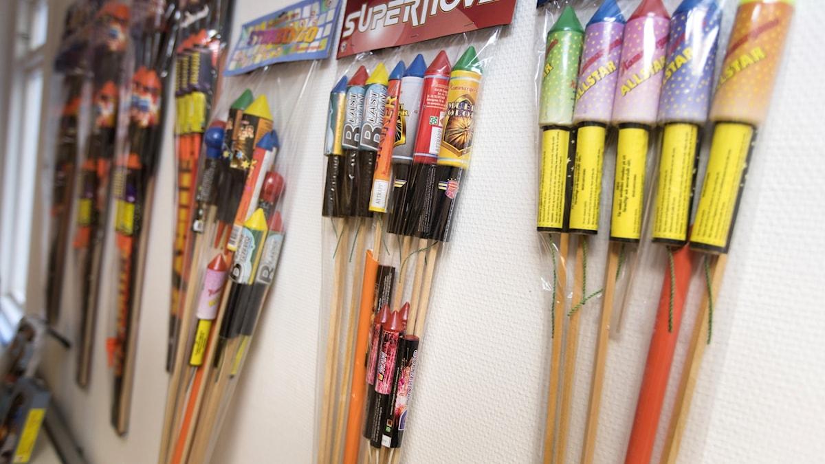 File photo of rocket fireworks