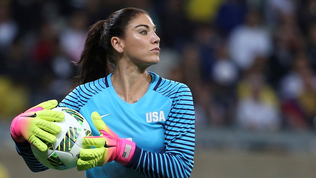 US goalie Hope Solo is suspended after comments about the Swedish National Team. Photo: Eugenio Savio/TT