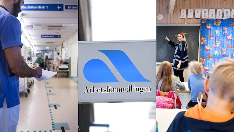 Healthcare and education will need many workers in the next 5 years, reports Arbetsförmedlingen.