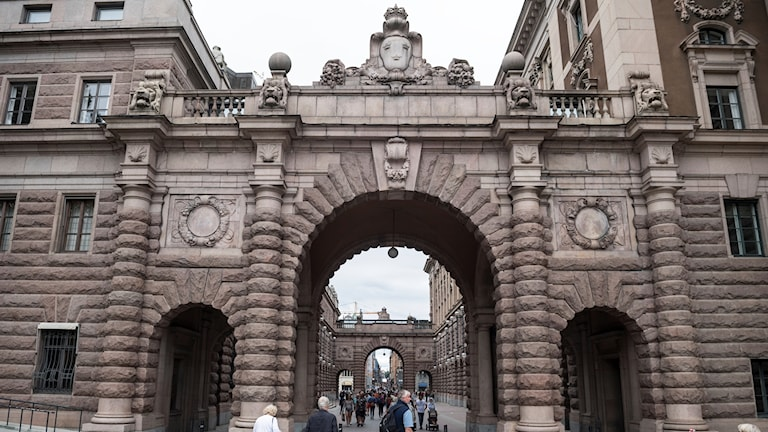 big building with archways