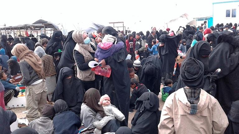 Refugee camp in Syria