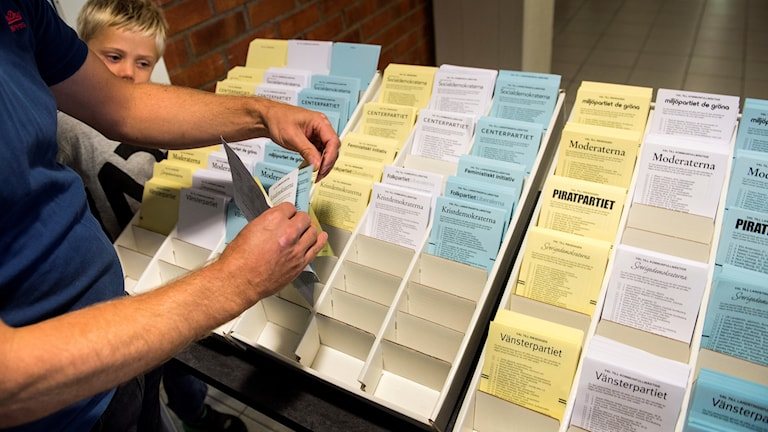 Swedish election voting slips