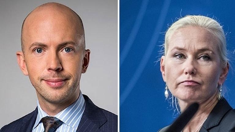 Erik Bromander and Anna Johansson