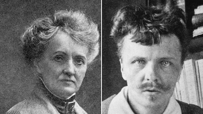 Whose bust should be outside the Royal Dramatic Theatre: Alfhild Agrelle (left) and August Strindberg (right)? Photo: TT