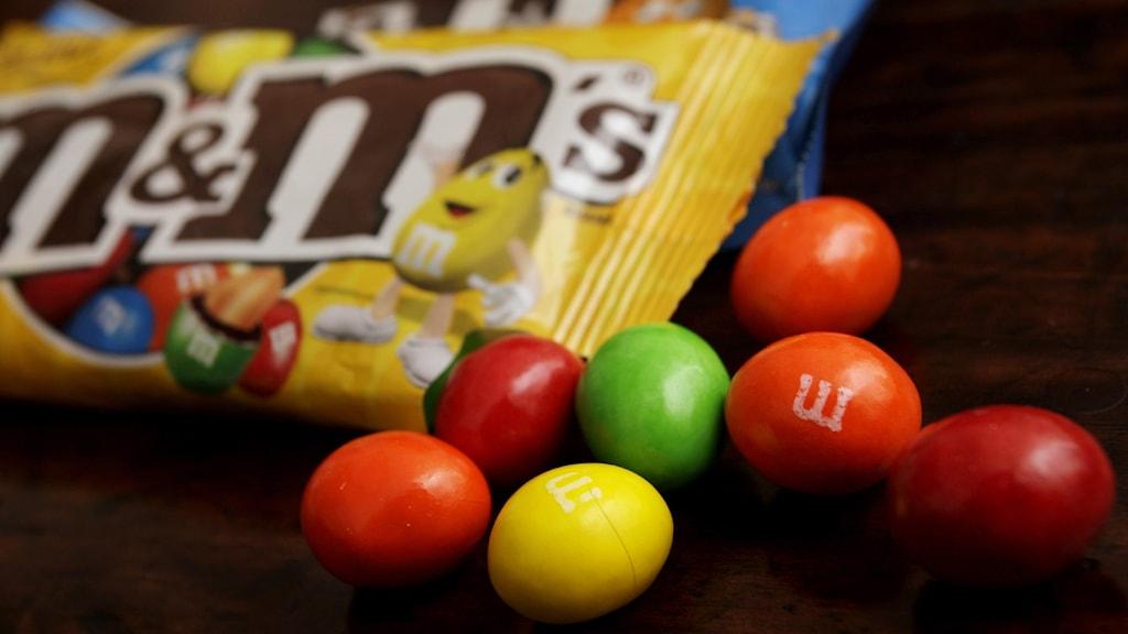 The Mars-made candy m&ms. Photo: Kin Cheung / AP / TT.