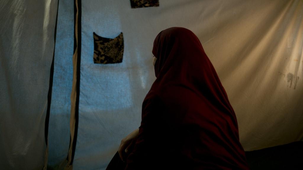 Woman in the al-Roj camp.