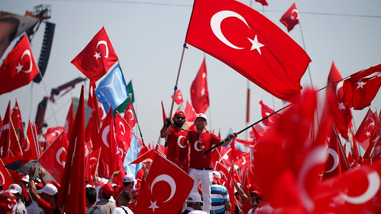 Rally in Istanbul after the abortive coup in July.