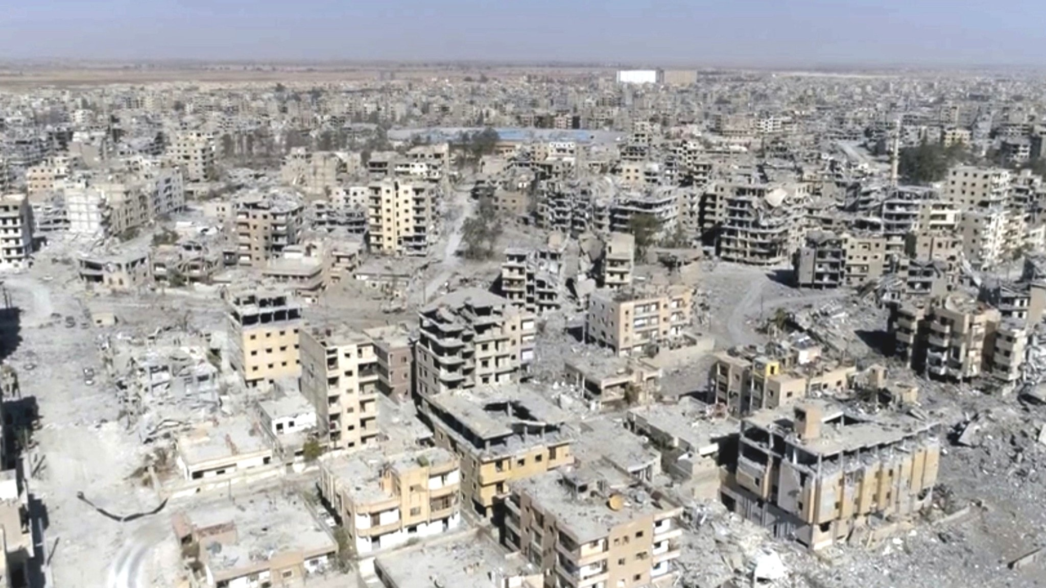 A view of Raqqa from a drone.